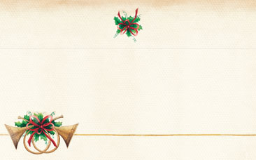 HOLIDAY PAPER: Antique Horns - Envelopes