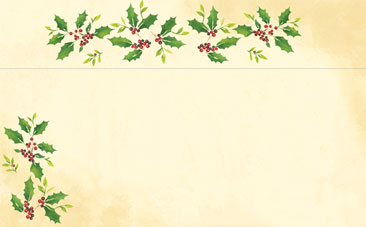 HOLIDAY PAPER: Falling Holly