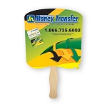 SIX locations or SIX color imprint - Single Paddle Fans - 10 fan minimum - price break at 125 fans