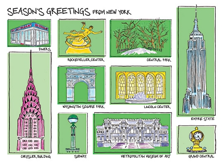 Holiday Cards - Regional Christmas Collection - GREETINGS FROM NYC