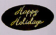 Envelope Seals with Embossed Happy Holidays - gold - Pack of 25