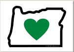 Holiday Cards - Regional Christmas Collection - HEART IN OREGON