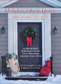 Invitations - Holiday Themed Invites - Holiday Open Houses