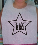 STOCK DESIGN - I DO BBQ STAR BIBS