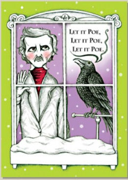 Holiday Cards - Humorous Christmas Cards - LET IT POE