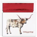 Holiday Cards - Regional Holiday Collection - Longhorn Warmest Wishes