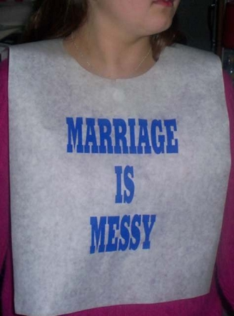 STOCK DESIGN - MARRIAGE IS MESSY 1 BIBS