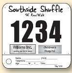 Sports Bibs - Pin on Numbers with one tag