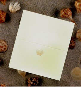 SINGLE PLACE CARDS - SHELL