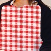 Plastic Bibs - STOCK RED GINGHAM