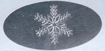Envelope Seals with Embossed Snowflake Design - Pack of 25