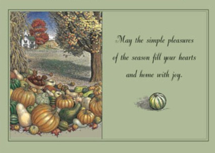 Holiday Cards - Thanksgiving Collection - Simple Pleasures