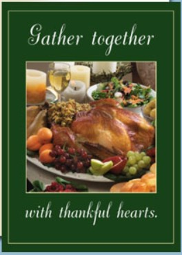 Holiday Cards - Thanksgiving Collection - Gather Together