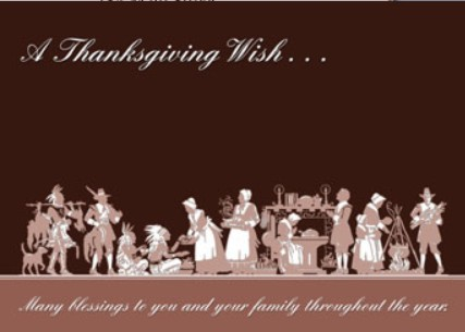 Holiday Cards - Thanksgiving Collection - The First Thanksgiving