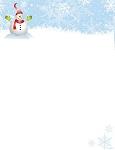 HOLIDAY PAPER:  Snowy Snowman