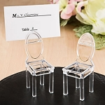 CLEAR Acrylic Plastic Chair Tiny Place Card Holders