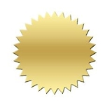 Gold Certificate Seals, choose of size