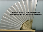 Natural White Folding Fans
