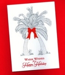 Holiday Cards - Nautical Cards - Holiday Palms - pack of 10