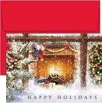 Holiday Cards - Regional Holiday Collection - Western Mantel Warmest Wishes