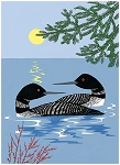 Holiday Cards - Nature - EVENING LOONS