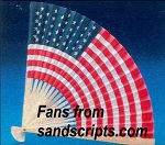 American Flag Folding Fans - pack of 10