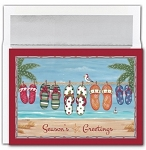Holiday Cards - Regional Holiday Collection - Flip Flop Beach