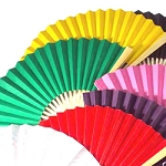 Blank Color Folding Fans - sold by the dozen