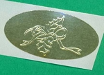 Envelope Seals with Embossed Holly Design - Pack of 25