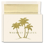 Holiday Cards - Regional Holiday Collection - Gold Palms