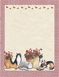 ANIMAL PAPER:  Garden Cats Letterhead