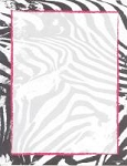 ANIMAL PAPER:  All Over Zebra Letterhead