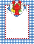 NAUTICAL PAPER:  Lobster Party
