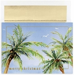 Holiday Cards - Regional Holiday Collection - Palm Trees with Gulls