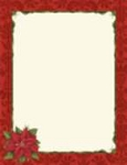 HOLIDAY PAPER:  Poinsettia Damask