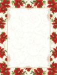 HOLIDAY PAPER - Poinsettia Swirl