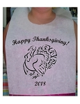 STOCK DESIGN - THANKSGIVING DINNER BIBS