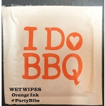 I DO BBQ HEART WET WIPE PACKETS
