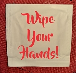 WIPE YOUR HANDS WET WIPE PACKETS