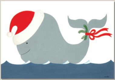 Holiday Cards - Nautical Cards -WHALE OF A SEASON