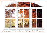 Holiday Cards - Thanksgiving Collection - Window Thanks