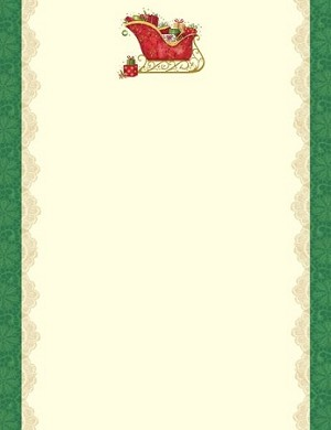 HOLIDAY PAPER:  Filled Sleigh