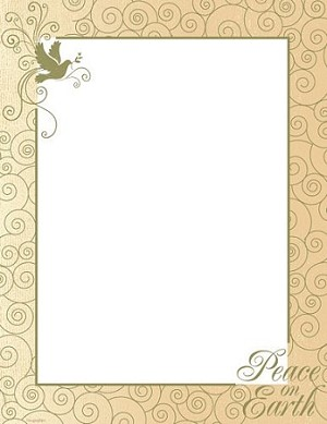 CHRISTMAS PAPER - Peace on Earth Letterhead with Foil