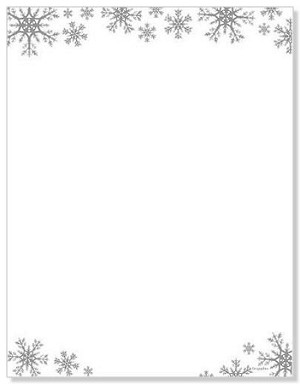 CHRISTMAS PAPER - Snowflake Silver Foil