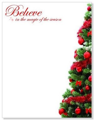 CHRISTMAS PAPER - Red Foil Believe