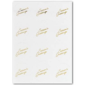 Envelope Seals with Seasons Greetings - gold - Pack of 24