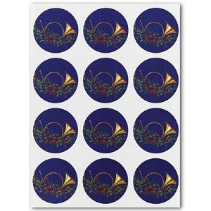 Envelope Seals with French Horn Design - Pack of 24