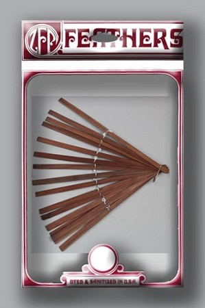 Bamboo Fan Stave - Brown - Pack of 10