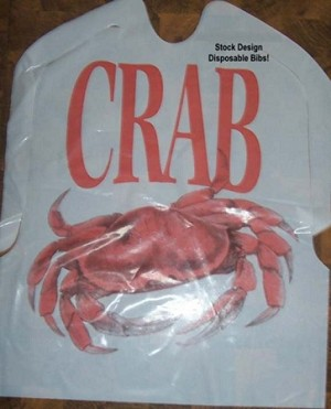 Plastic Bibs - STOCK CRAB DESIGN