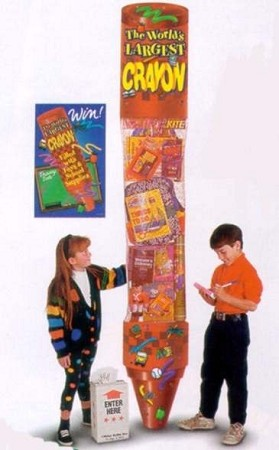 8' GIANT TOY FILLED CRAYON - DELUXE